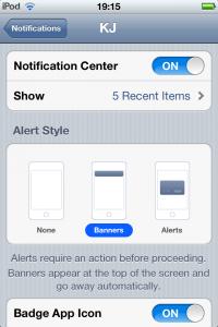 Setting Push Notification Alert Styles