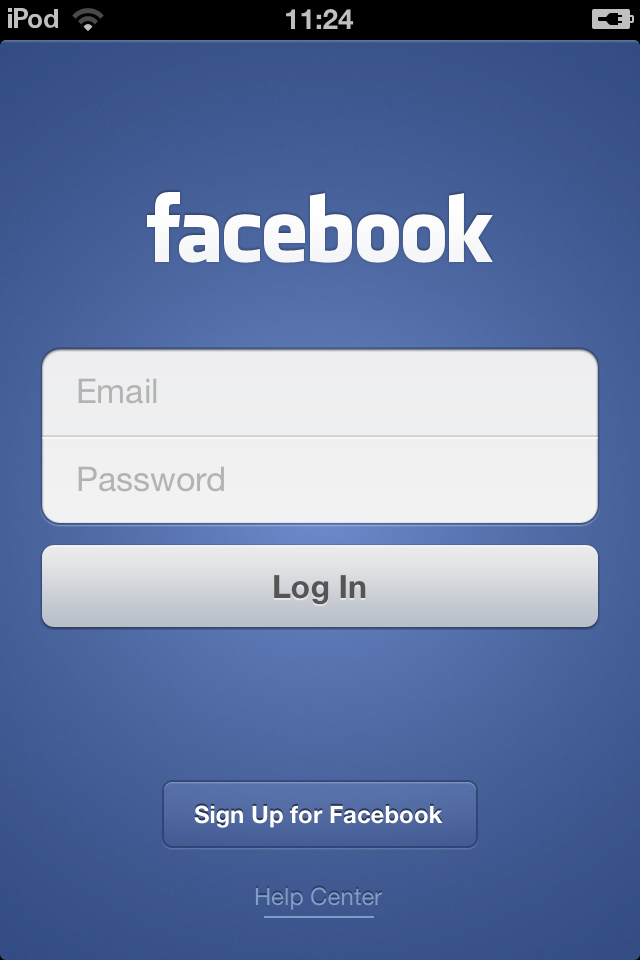Image Gallery iphone facebook login