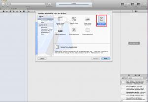 Create Single View IOS Application
