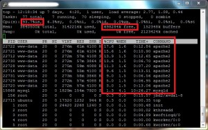 CPU Usage Problem in WordPress with Amazon EC2