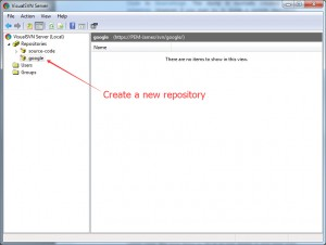 create a new repository