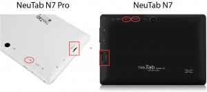 NeuTab N7 vs N7 Pro