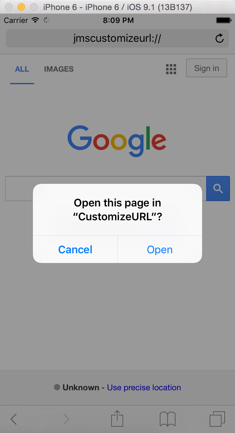 iOS Customize URL Schemes for Other Apps Calling