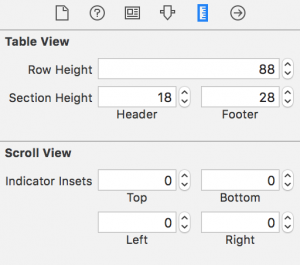 set table view row height