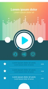 Top 5 Free Android MP3 Player App Design with PSD Download